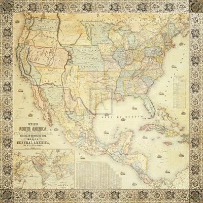 Map of North America, 1853