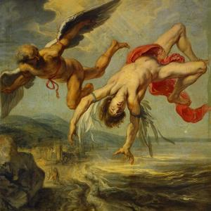 Jacob Peter Gowy / The Fall of Icarus, 1636-1637 by Jacob Peter Gowy
