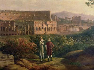 Johann Wolfgang Von Goethe (1749-1832) Visiting the Colosseum in Rome, circa 1790