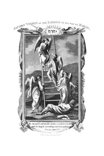 Jacob's Dream of Angels Ascending and Descending the Ladder to Heaven, C1808--Giclee Print