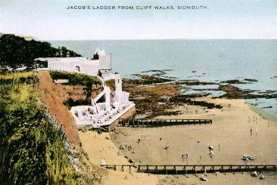 Jacob's Ladder, as Seen from Cliff Walks, Sidmouth, Devon, Early 20th Century--Giclee Print