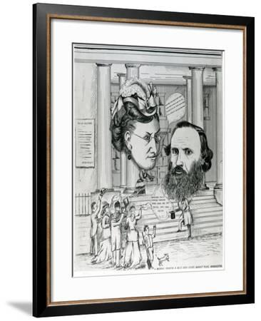 Jacob's Return, Meeting of Jacob Bright and Lydia Becker, Magazine Illustration--Framed Giclee Print