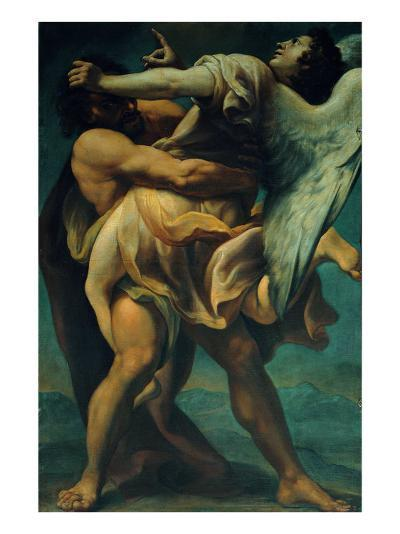 Jacob Struggles with the Angel--Giclee Print