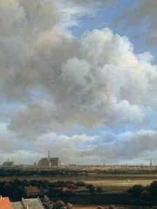 View of Haarlem, (Detail), C1670 by Jacob van Ruisdael