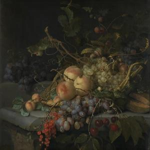 Still Life with Fruit by Jacob van Walscapelle
