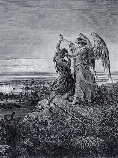Jacob Wrestling with the Angel-Gustave Dor?-Giclee Print