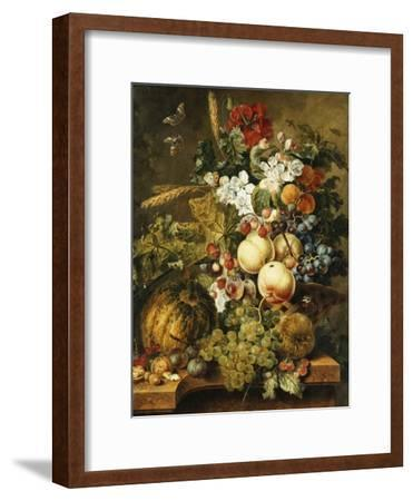 Fruit and Flowers on Marble Ledges, 1812