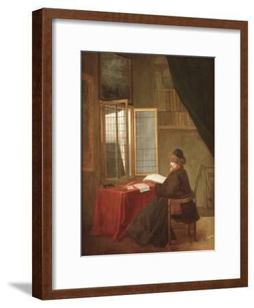 An Old Man Seated before a Window, Reading, 1653 or 1655