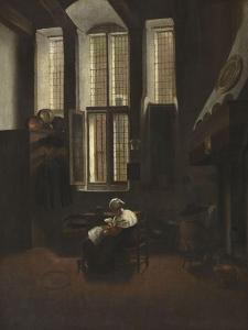 Scène d'intérieur by Jacobus Vrel