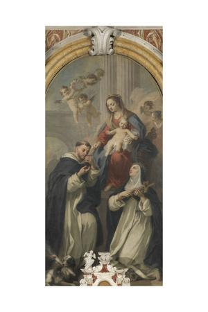 Madonna of the Rosary with Saints Dominic and Rose