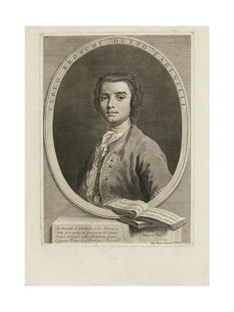 Portrait of the Singer Farinelli (Carlo Brosch) (1705-178), 1735