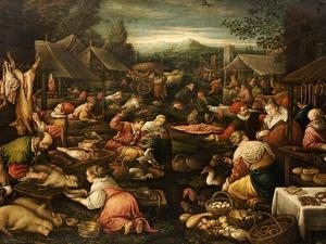 A Country Market by Jacopo Bassano