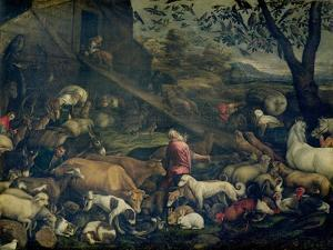 Animals Entering the Ark by Jacopo Bassano