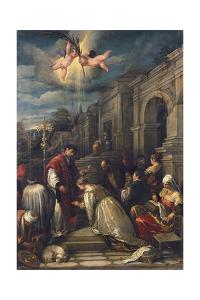 Baptism of St Lucilla by Jacopo Bassano