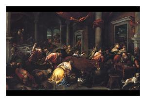 Christ Drives the Dealers from the Temple by Jacopo Bassano