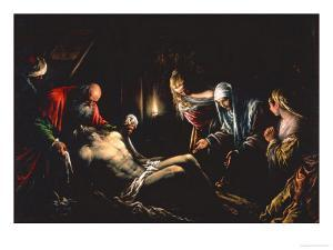 Entombment of Christ by Jacopo Bassano