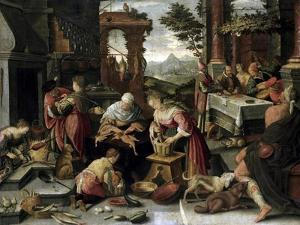 Lazarus and the Rich Man by Jacopo Bassano