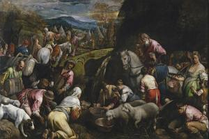 Moses Striking Water from the Rock by Jacopo Bassano