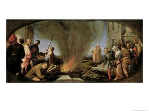 Tamar Led to the Stake, 1566-67 by Jacopo Bassano