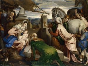 The Adoration of the Magi, Ca 1555 by Jacopo Bassano