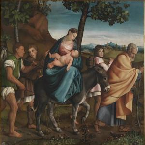 The Flight into Egypt, 1534 by Jacopo Bassano