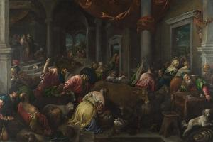 The Purification of the Temple, C. 1580 by Jacopo Bassano
