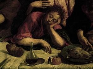 The Sleeping Apostle, Detail from the Last Supper, 1546-1548 by Jacopo Bassano