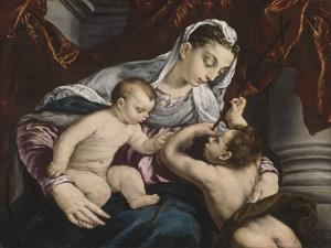 Virgin and Child with the Young Saint John the Baptist, 1560/65 by Jacopo Bassano