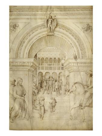 La Flagellation du Christ, à l'intérieur d'une architecture de palais vénitien