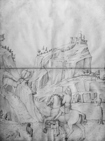 St. Eustachius, from the Jacopo Bellini's Album of Drawings