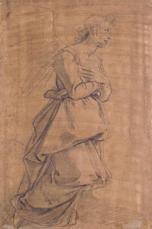 The Archangel Gabriel Kneeling to the Right, Study for an Annunciation