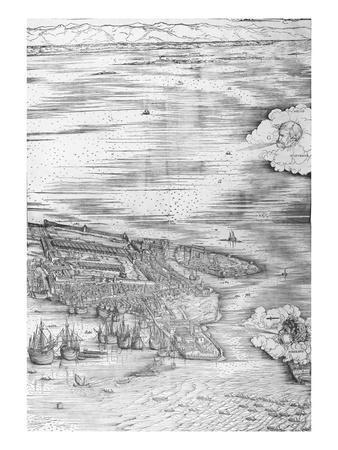 Grande Pianta Prospettica - Venice, C.1500 (Engraving) (Right Hand Side)