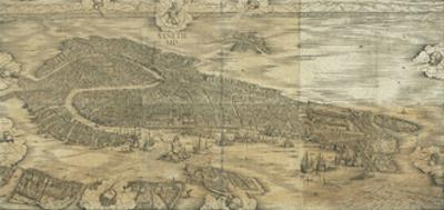 Map of Venice in 1500 by Jacopo De Barbari
