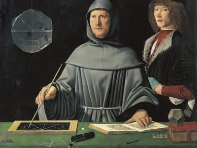Portrait of Fra Luca Pacioli with a Pupil