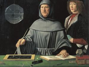 Portrait of Fra Luca Pacioli with a Pupil by Jacopo de'Barbari