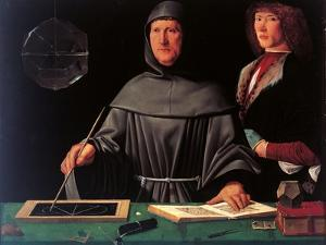 Portrait of the Mathematician Fra Luca Pacioli and His Student by Jacopo De Barbari