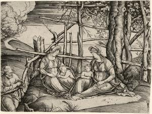 The Holy Family with St. Elizabeth and the Infant St. John, C. 1499-1501 by Jacopo De' Barbari