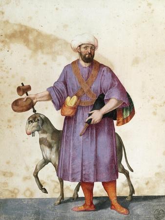 Turkish Shepherd with Sheep