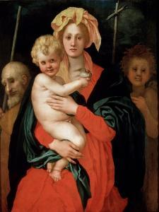 Madonna and Child with Saint Joseph and John the Baptist, 1520S by Jacopo Pontormo
