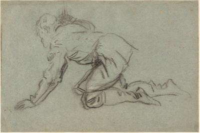 A Kneeling Man Holding a Staff, c.1554-56