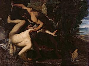 Cain Slaying Abel by Jacopo Robusti Tintoretto