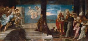Doge Alvise Mocenigo presented to the Redeemer, c.1577 by Jacopo Robusti Tintoretto