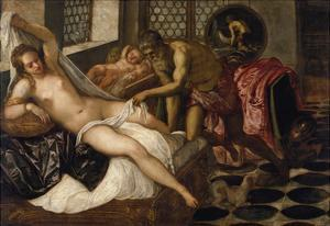 Mars and Venus Surprised by Vulcan by Jacopo Robusti Tintoretto