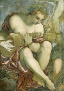 Muse with Lute, c.1578 by Jacopo Robusti Tintoretto