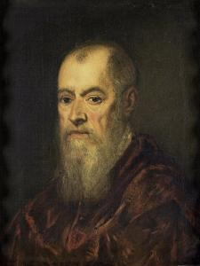 Portrait of a Man with a Red Cloak, 1555-80 by Jacopo Robusti Tintoretto
