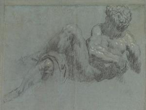 Study after Michelangelo's Giorno, c.1550-55 by Jacopo Robusti Tintoretto