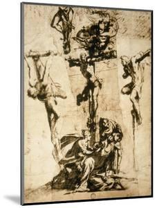 Study for the Crucifixion, Gallerie Dell'Accademia, Venice by Jacopo Robusti Tintoretto