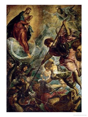 The Archangel Michael Fights Satan, (Revelation 12, 1-9)