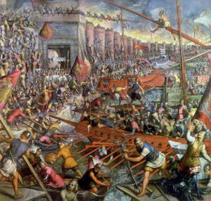 The Capture of Constantinople in 1204 by Jacopo Robusti Tintoretto