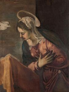 Virgin from the Annunciation to the Virgin, 1560-85 by Jacopo Robusti Tintoretto